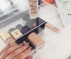 chanel, cosmetic, and nars cosmetics image