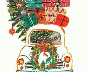 christmas, present, and car image
