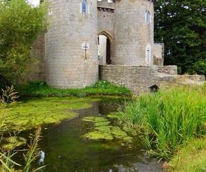 bridge, castle, and medieval image