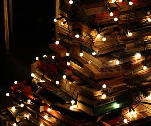 book, light, and christmas image