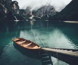 boat, landscape, and photography image