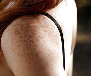 freckles, girl, and red hair image