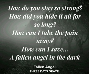 fallen angel, Lyrics, and music image