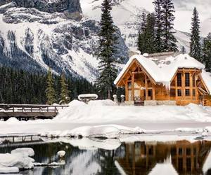 dream house, snow, and winter image