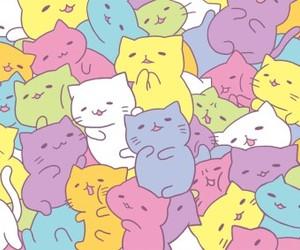 cat, kawaii, and wallpaper image