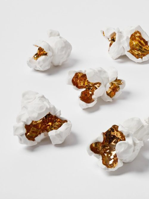 gold, popcorn, and food image