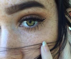 girl, eyes, and green image