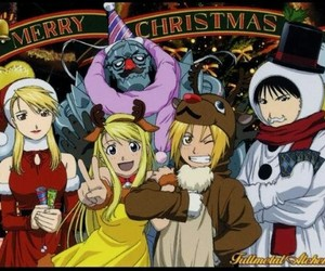 fma, winry, and roy mustang image