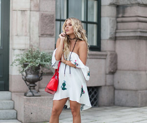fashion, blonde, and curly hair image