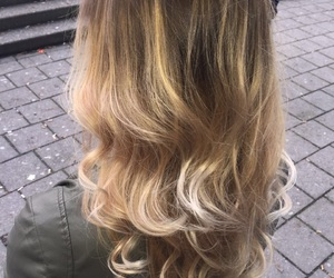 blond, girl, and balayage image