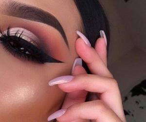 beauty, eyelashes, and glam image