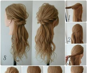 beautiful, Easy, and hairstyle image
