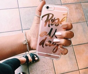 iphone, rose gold, and case image