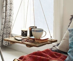 home, coffee, and bedroom image