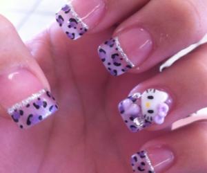 nails, hello kitty, and purple image