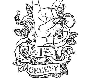 creepy, art, and stay image