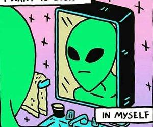 alien, believe, and green image