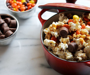 new england, caramel popcorn, and harvest popcorn image