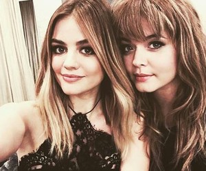 lucy hale, sasha pieterse, and pretty little liars image