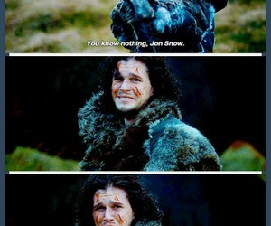 got, game of thrones, and jon snow image