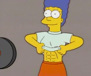 fitness, marge, and marge simpson image