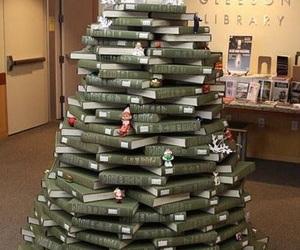 book and christmas tree image