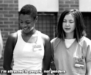gender, orange is the new black, and love image