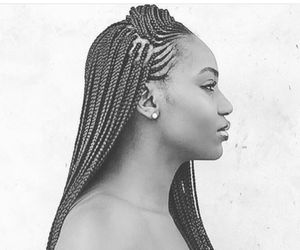 Afro, braids, and boxbraids image