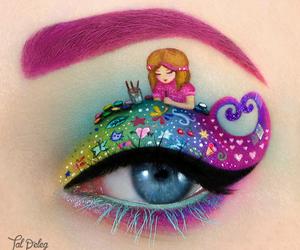 eye, makeup, and art image