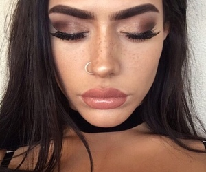 girl, make up, and piercing image