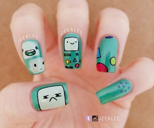 bmo, nail art, and adventure time image