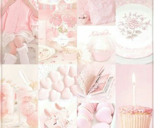 Collage, pink, and pinkpastel image