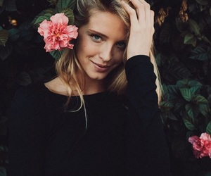 beach, blonde, and flower image