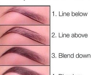 makeup, tutorial, and eyebrows image