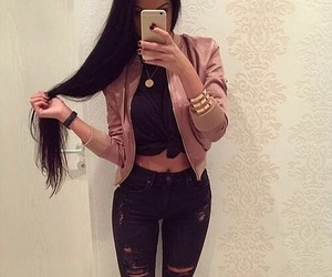 fashion, long hair, and style image
