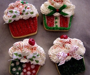 christmas, Cookies, and snack image