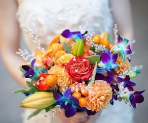 colors, wedding, and flowers image