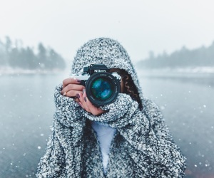 camera, cold, and girl image
