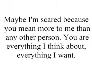 love, quotes, and scared image