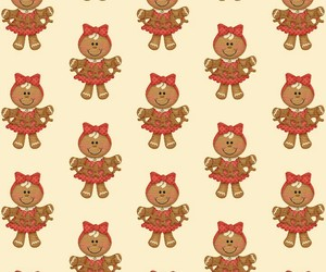 christmas, gingerbread, and pattern image