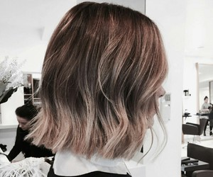 brown, hair, and ombre image