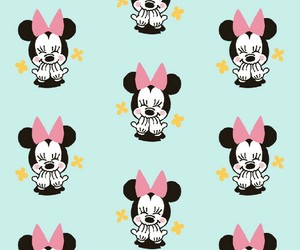 minnie mouse, pattern, and wallpaper image