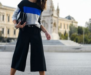 culotte, stripes, and sweater image