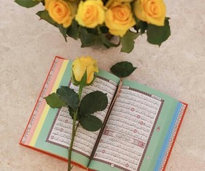 blessed, quran, and yellow image
