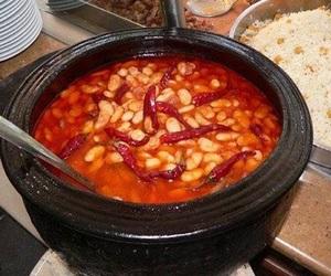 turkish food, pilav, and kuru fasulye image