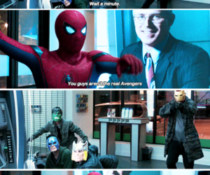 Avengers, boy, and home coming image