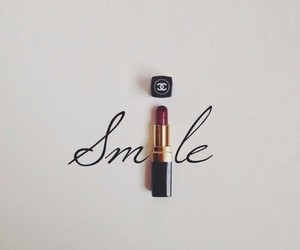 smile, chanel, and lipstick image