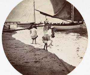 beach, paddle, and barco image