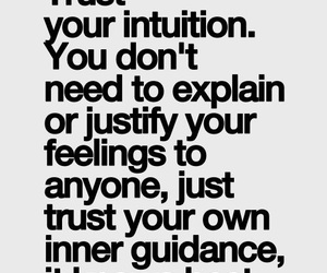 quotes, intuition, and trust image