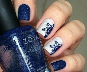 art, blue, and nails image